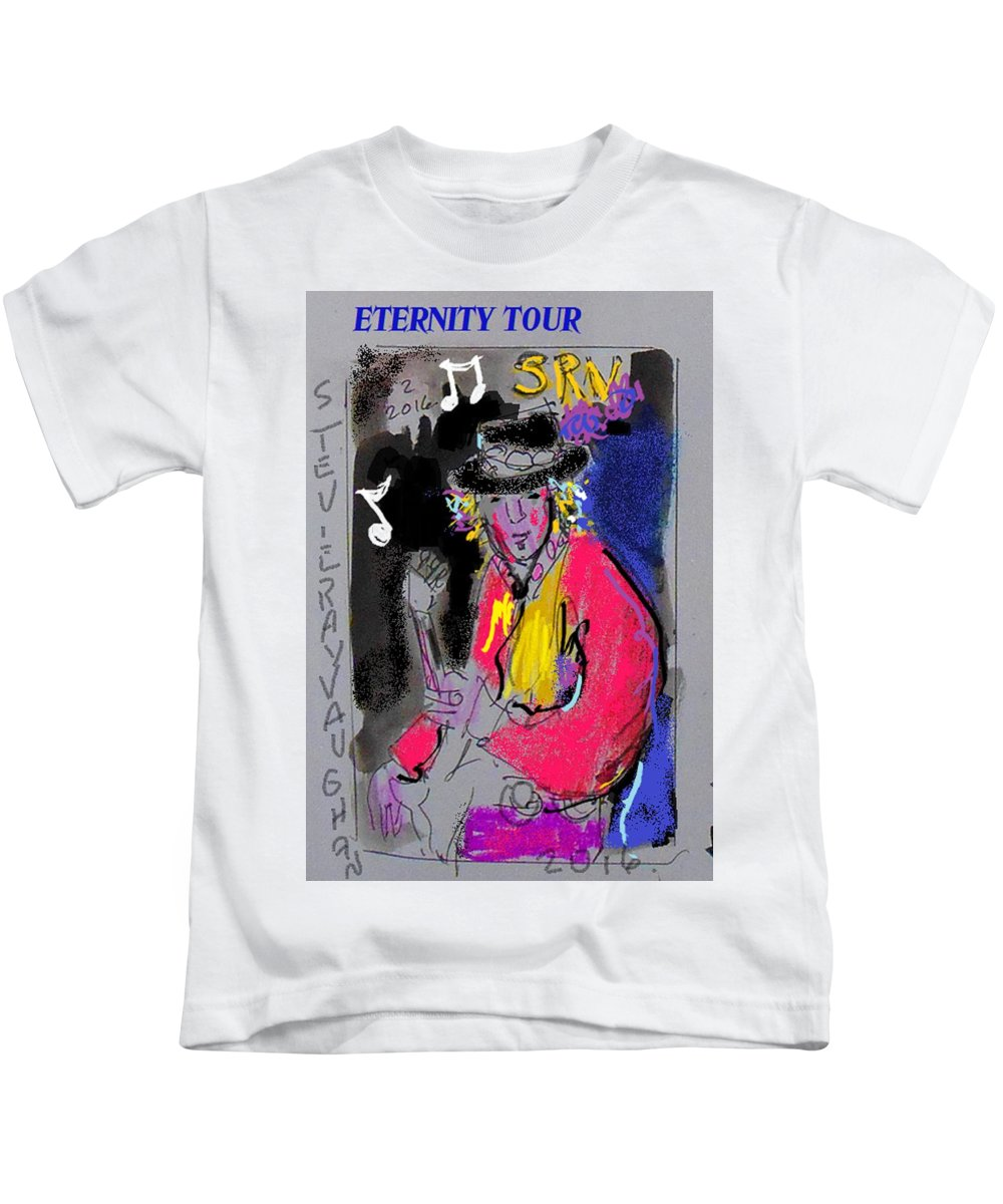 Srv Kids T-Shirt featuring the painting Srv Et by Samuel Zylstra