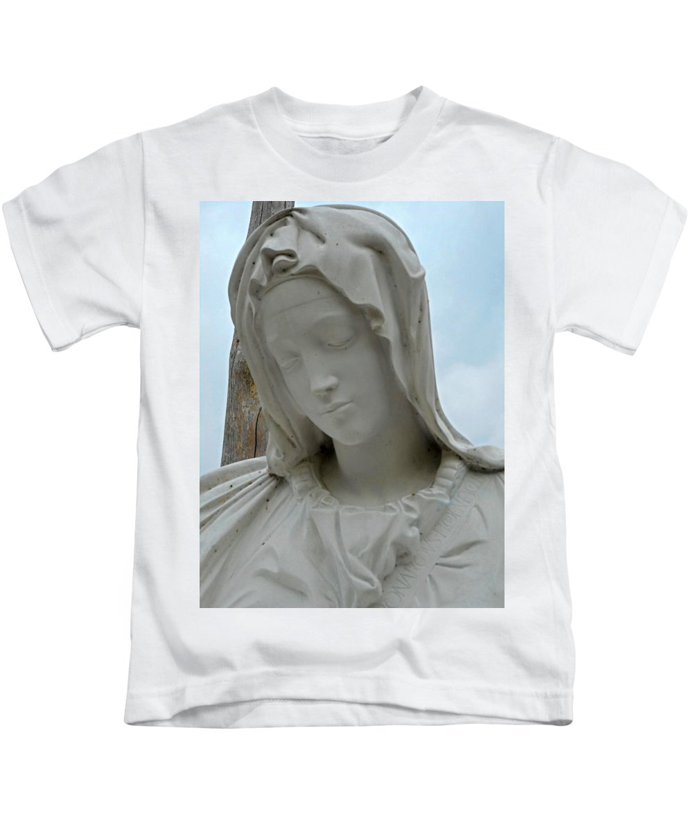 Kailua-kona Kids T-Shirt featuring the photograph St Benedicts Painted Church 5 by Ron Kandt