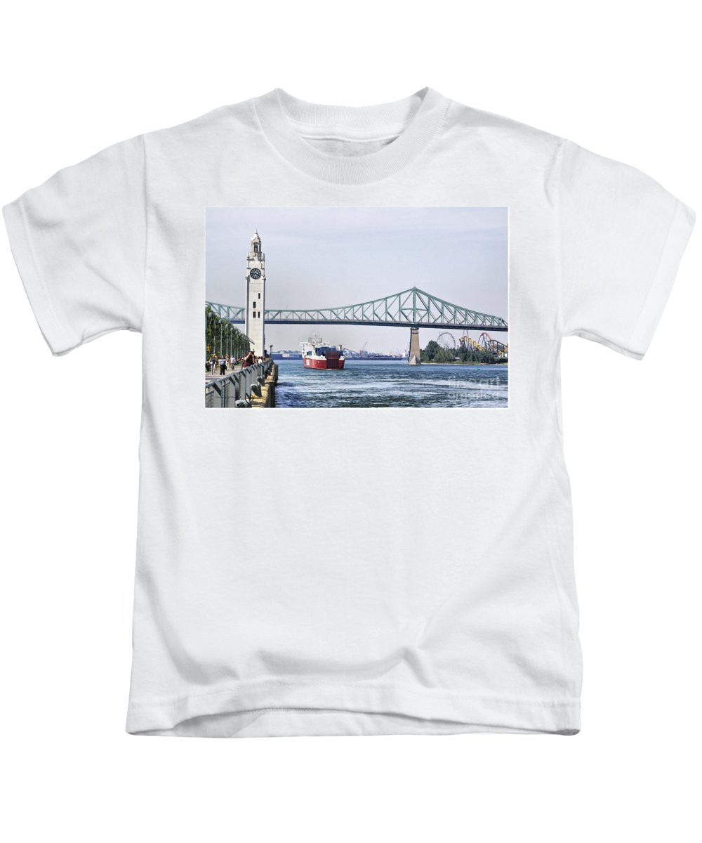 Kids T-Shirt featuring the photograph St Lawrence And Laronde by Deborah Benoit