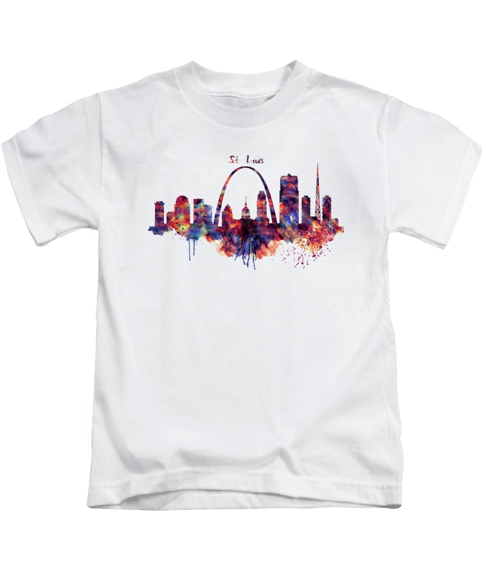 Gateway Arch Paintings Kids T-Shirts