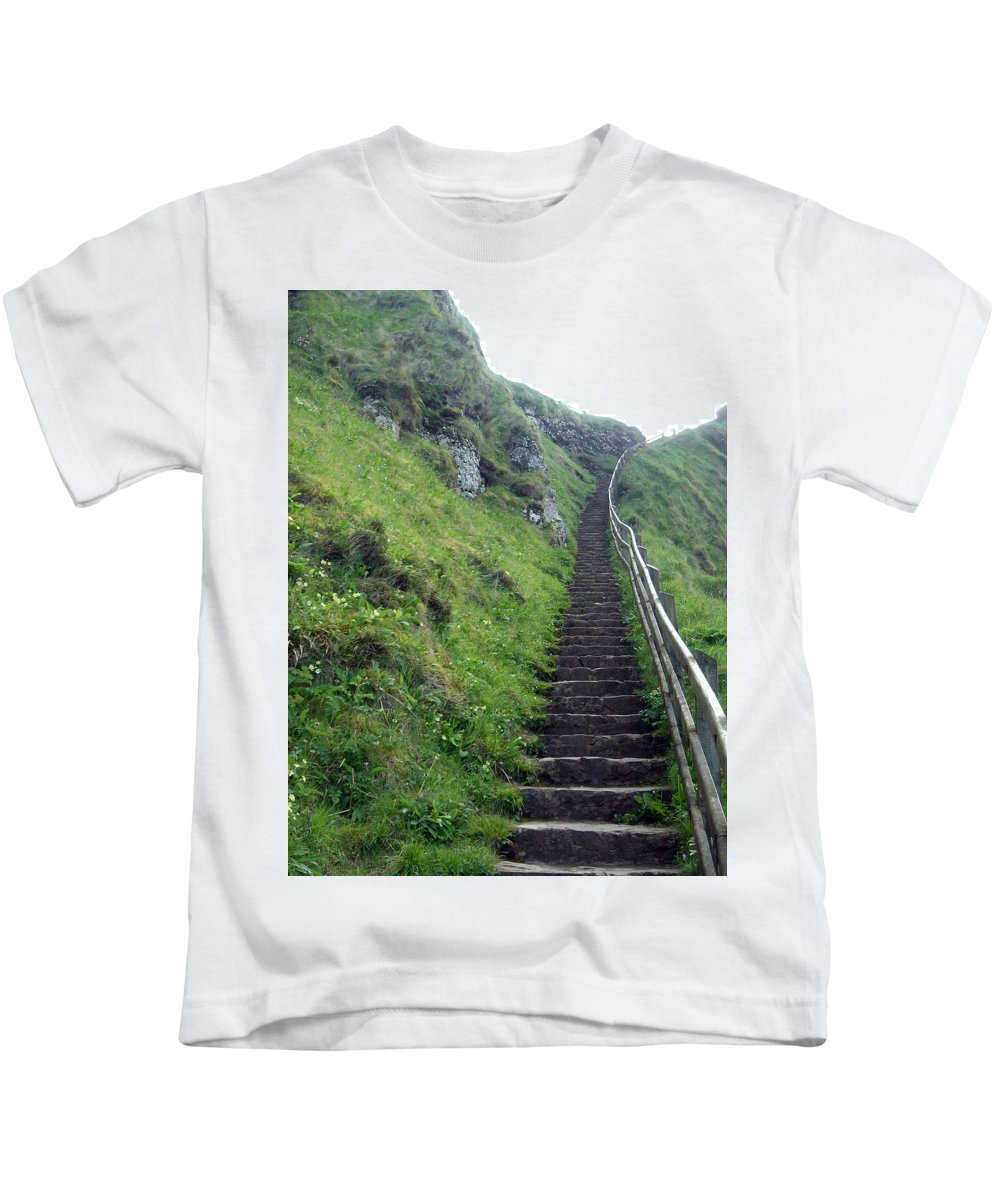 Landscape Kids T-Shirt featuring the photograph Stairway To... by Susan Lafleur