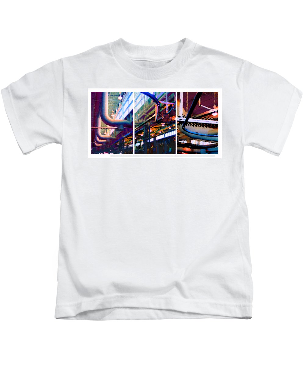 Abstract Kids T-Shirt featuring the photograph Star Factory by Steve Karol