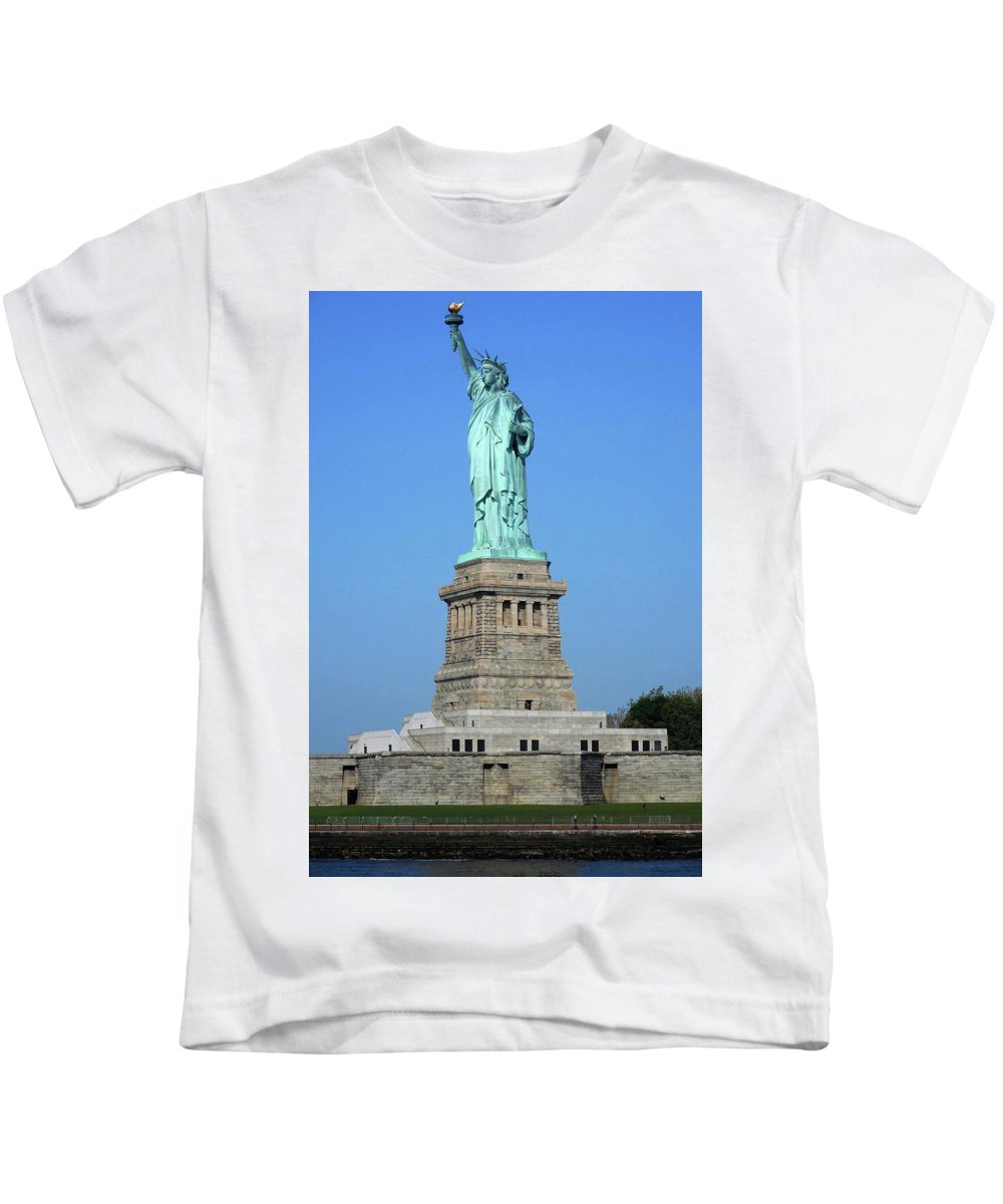 New York City Kids T-Shirt featuring the photograph Statue Of Liberty 3 by Ron Kandt
