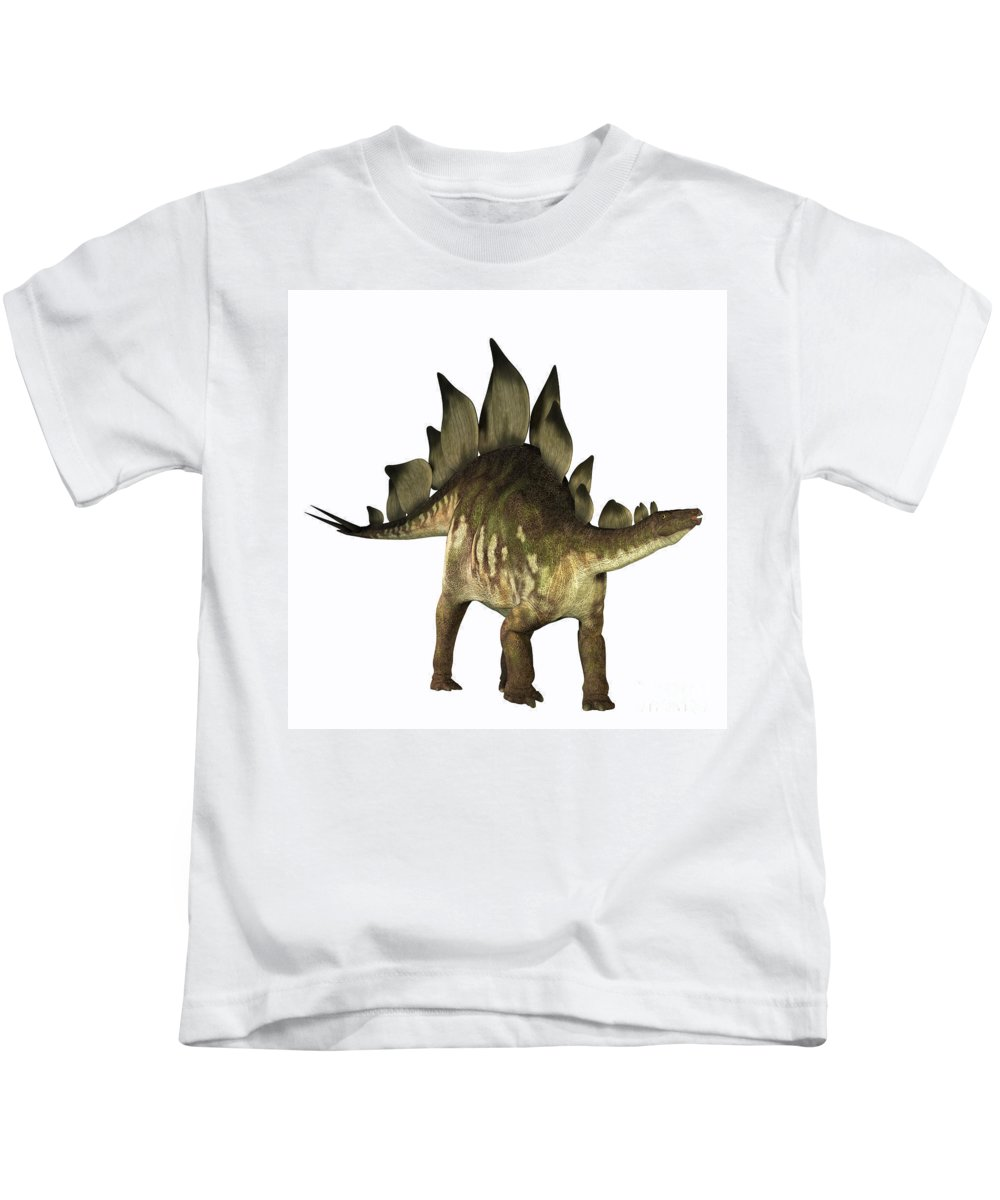 Stegosaurus Kids T-Shirt featuring the painting Stegosaurus Profile by Corey Ford
