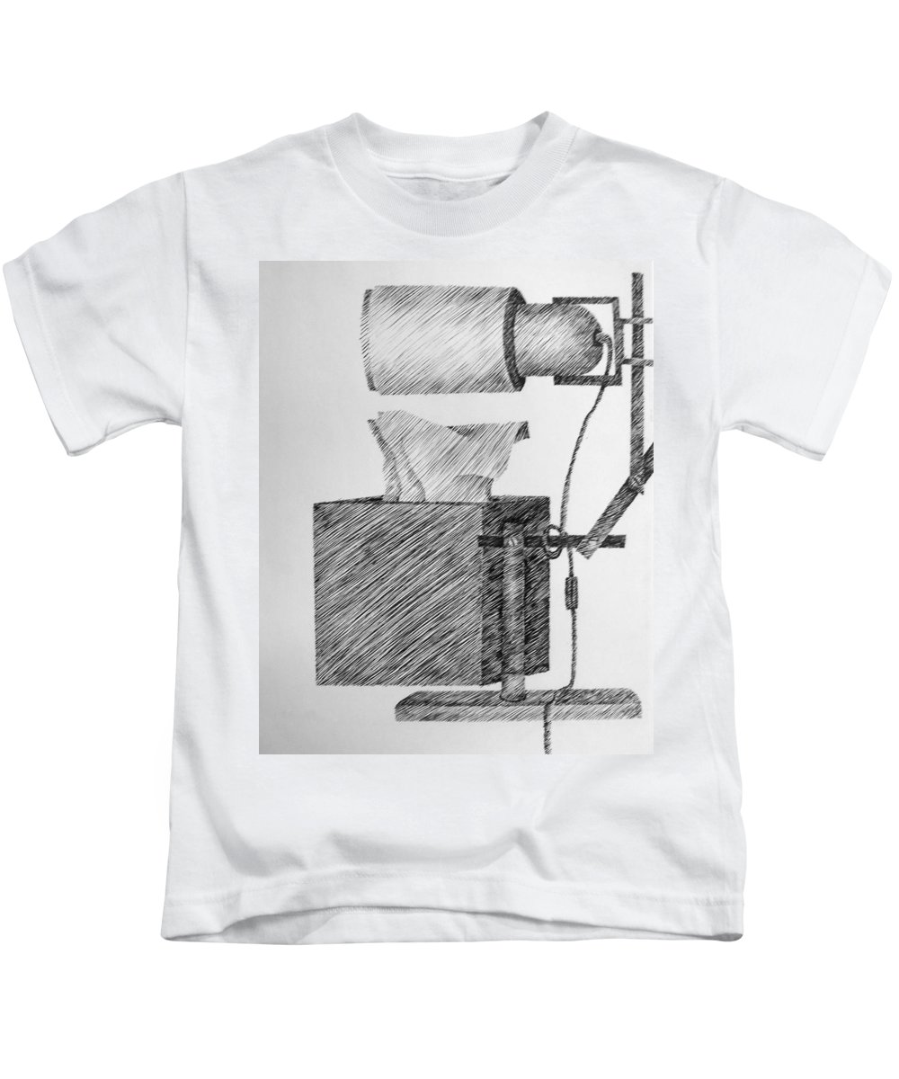 Still Life Kids T-Shirt featuring the drawing Still Life With Lamp And Tissues by Michelle Calkins