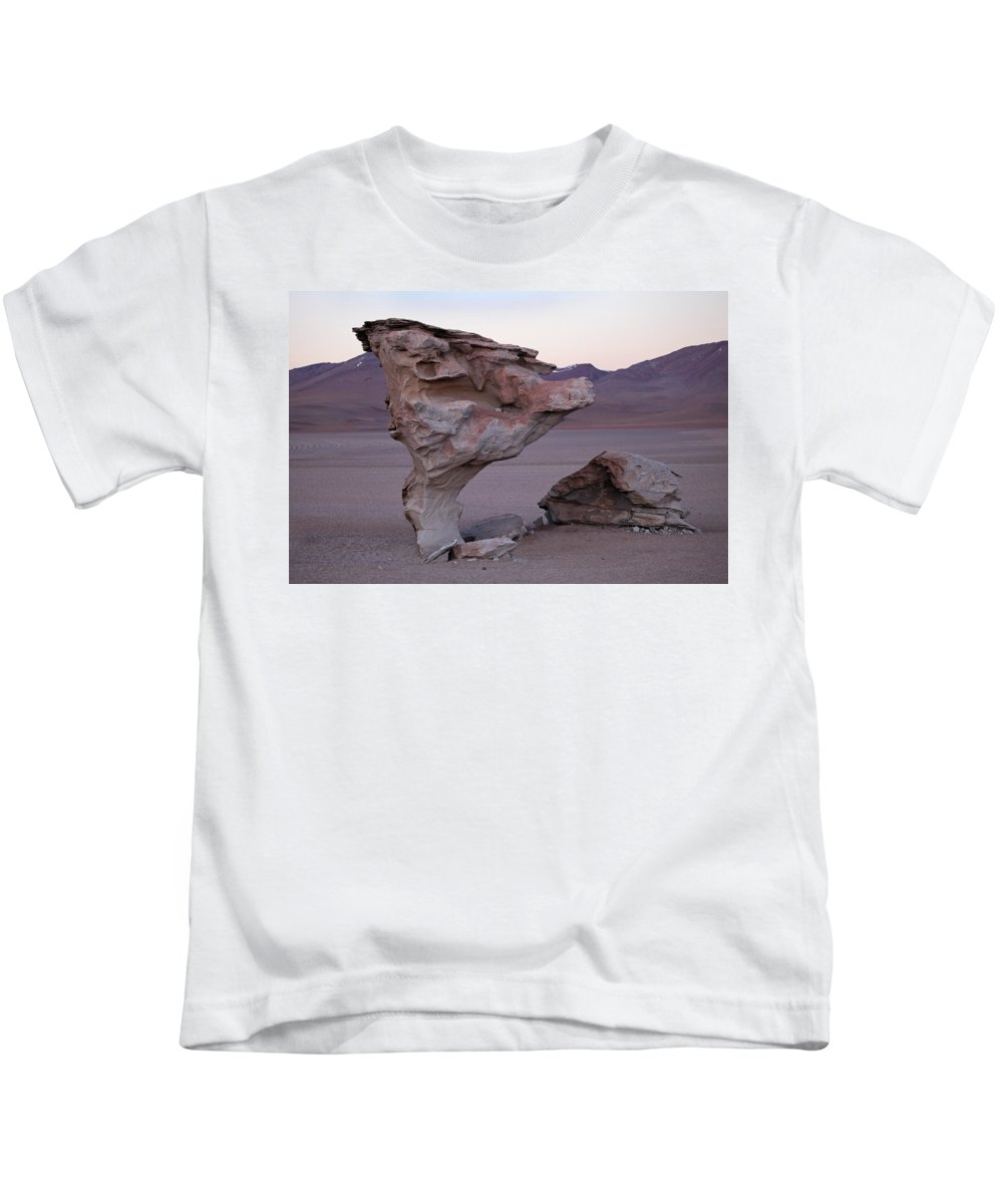 Stone Tree Kids T-Shirt featuring the photograph Stone Tree by Aivar Mikko