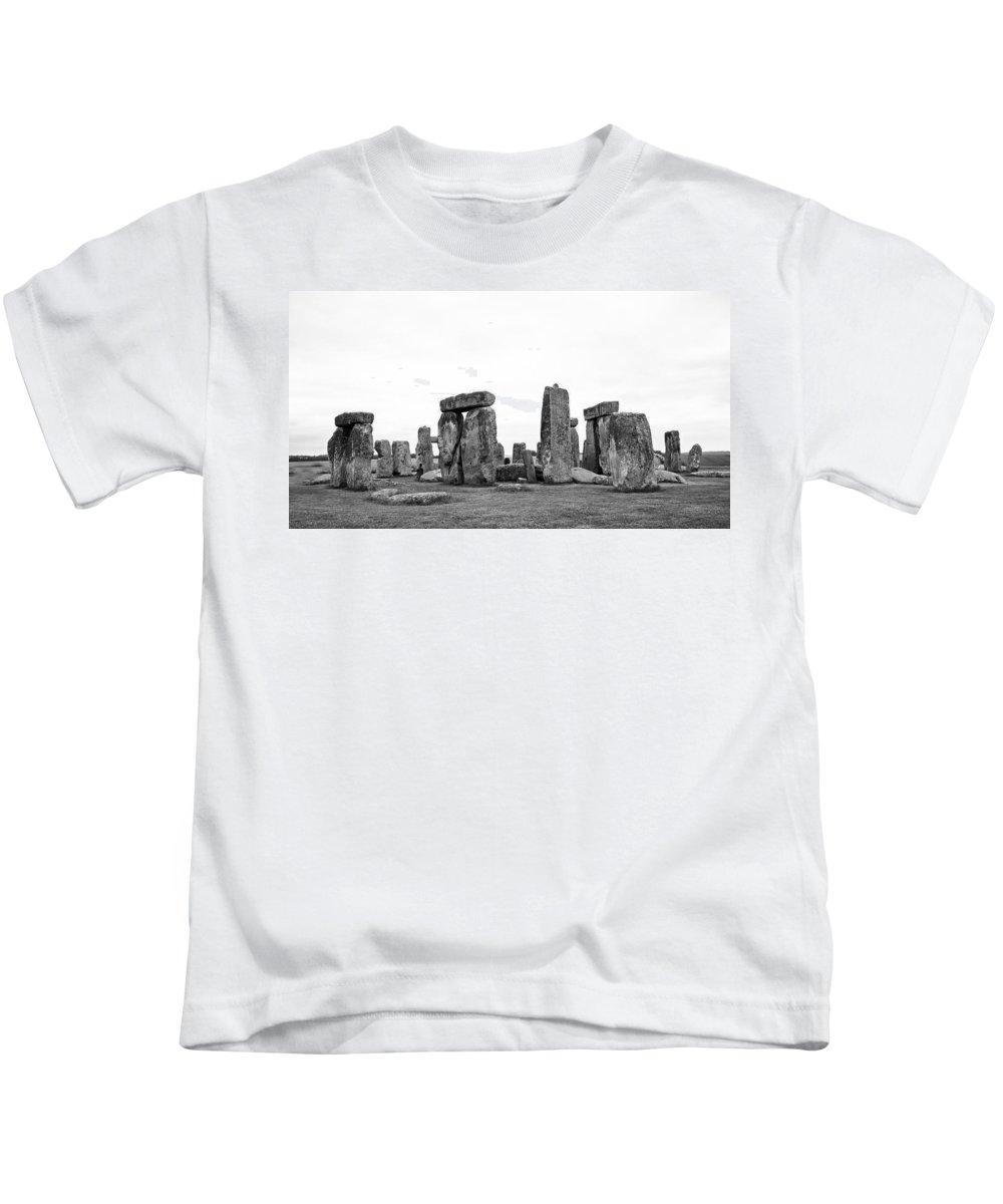 Stonehenge Kids T-Shirt featuring the photograph Stonehenge by Bob Kemp