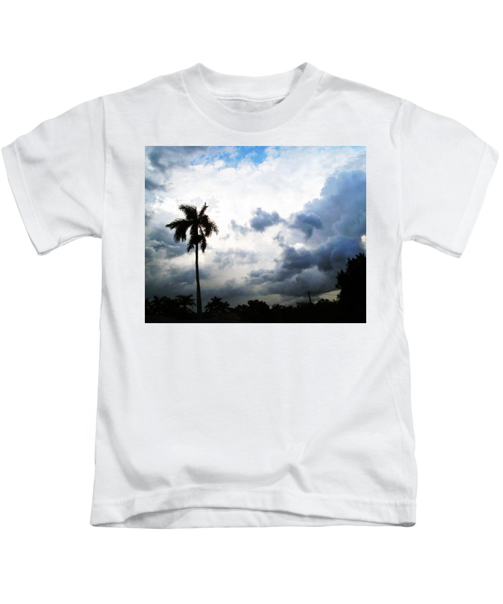 Florida Kids T-Shirt featuring the photograph Storm Brewing by Chris Andruskiewicz