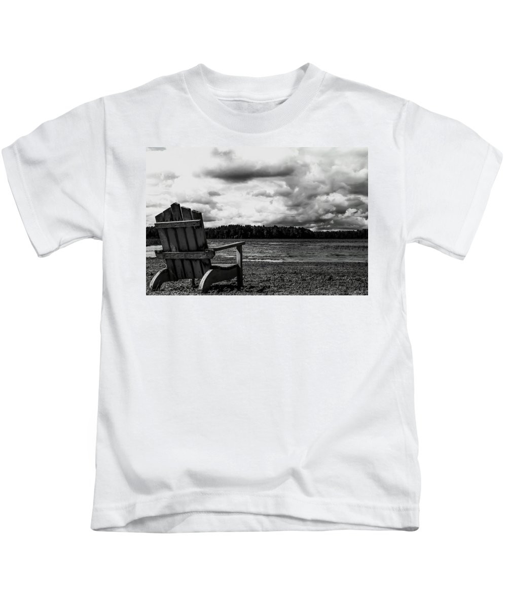 Landscape Kids T-Shirt featuring the photograph Storm Watching by Mary Stilwell