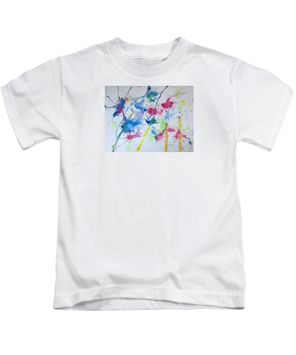 Straw Blown Painting Kids T-Shirt featuring the painting Straw Blown by J R Seymour