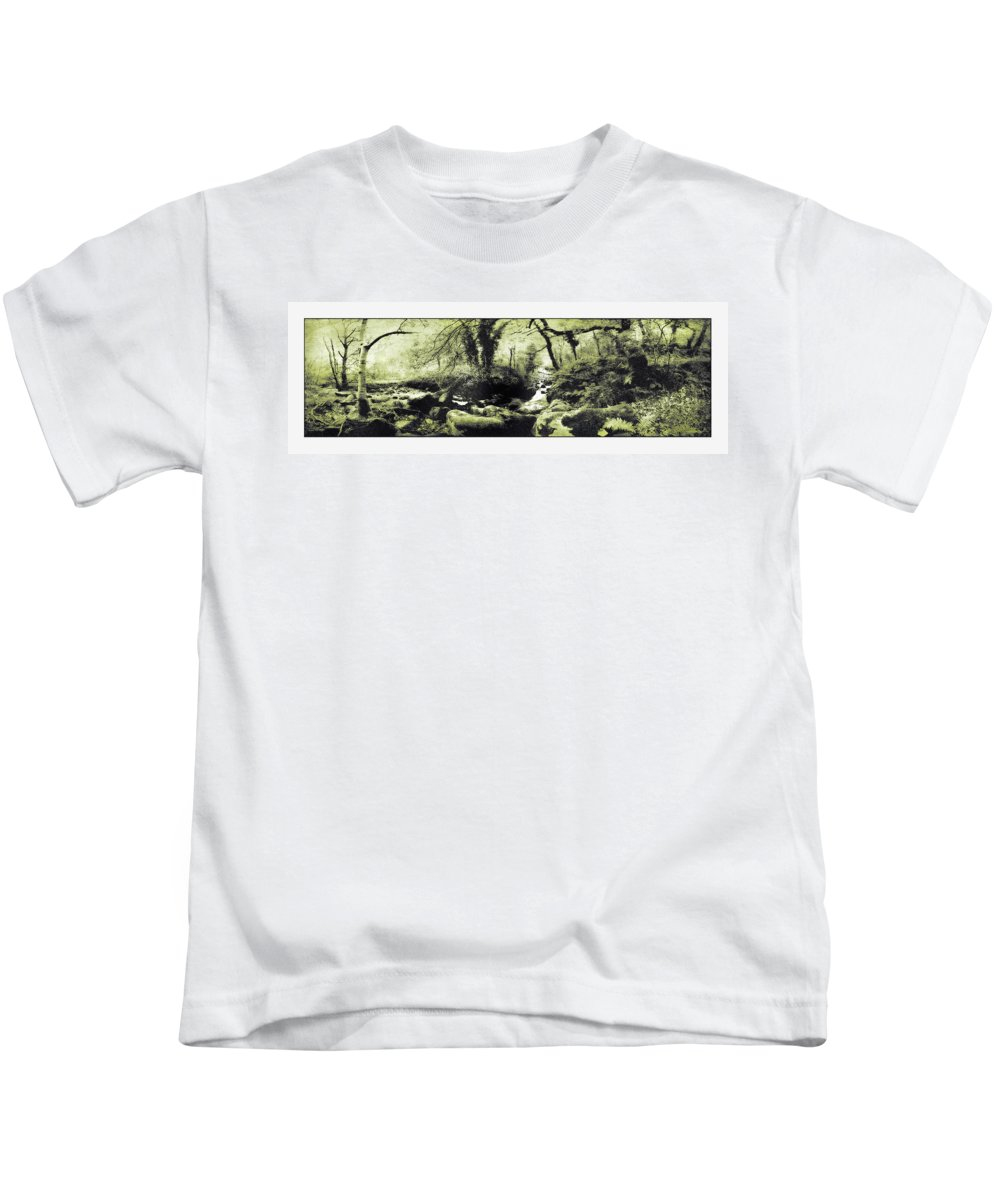 Stream Kids T-Shirt featuring the photograph Stream In An Ancient Wood by Mal Bray