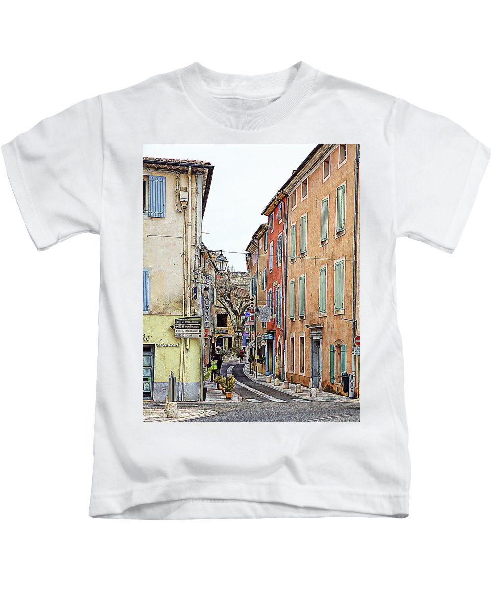 Orange Kids T-Shirt featuring the photograph Street Orange, France by Hugh Smith