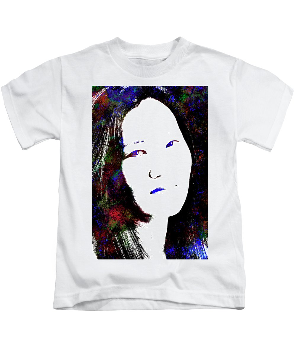 Woman Kids T-Shirt featuring the photograph Stylized Woman's Portrait by Thomas Morris