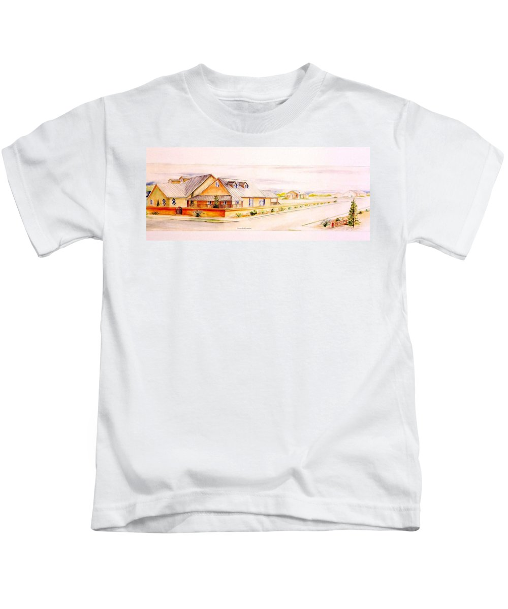 Architectural Renderings Kids T-Shirt featuring the painting Subdivison Rendering by Eric Schiabor