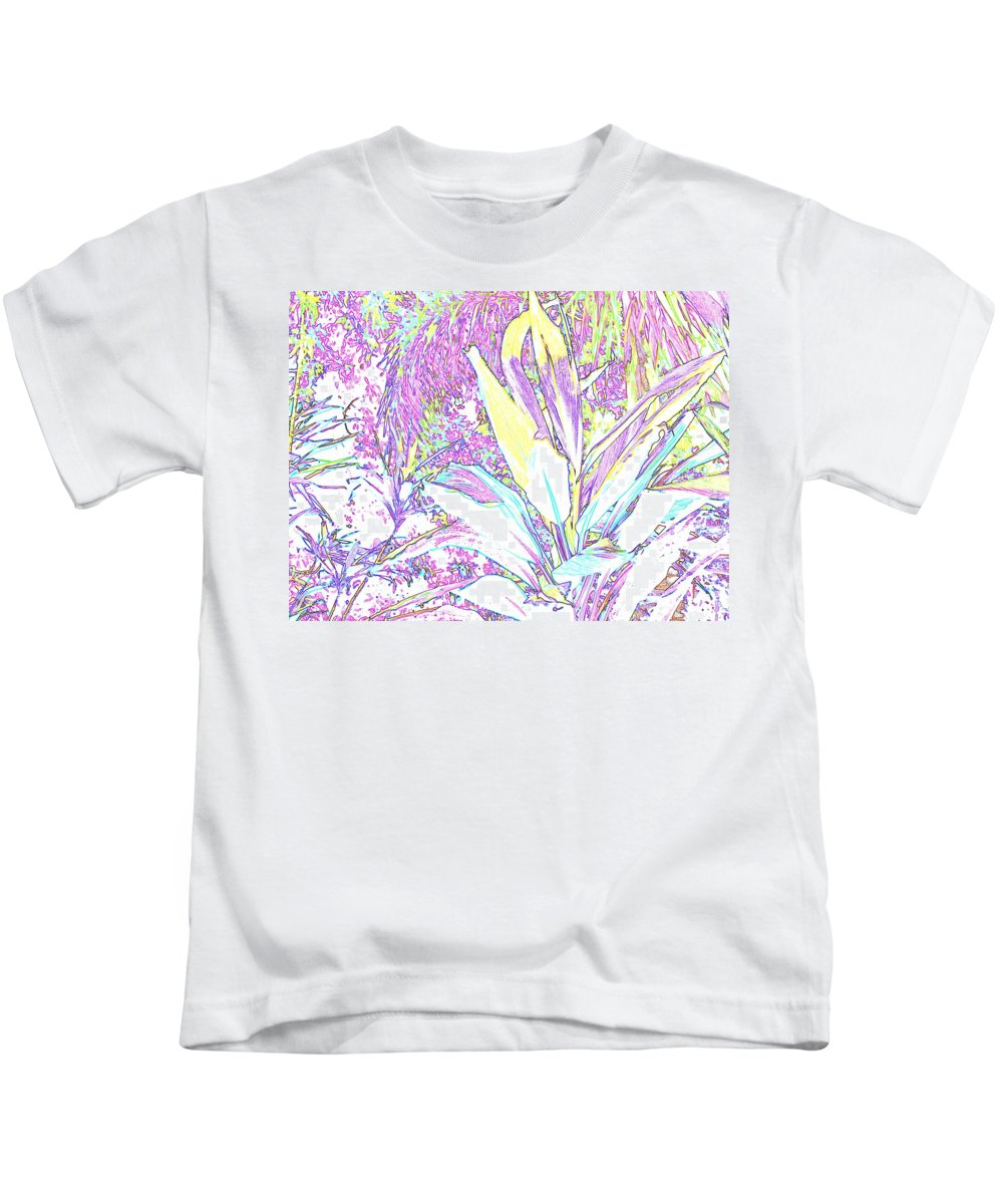 Abstract Kids T-Shirt featuring the photograph Subtle Leaf by Ian MacDonald
