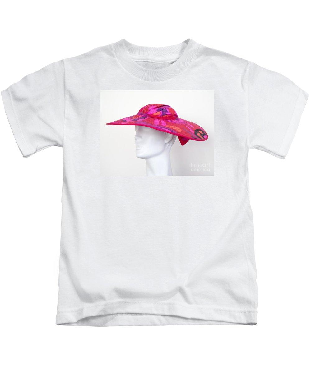 Hat Kids T-Shirt featuring the photograph Summer Hat by Ann Horn