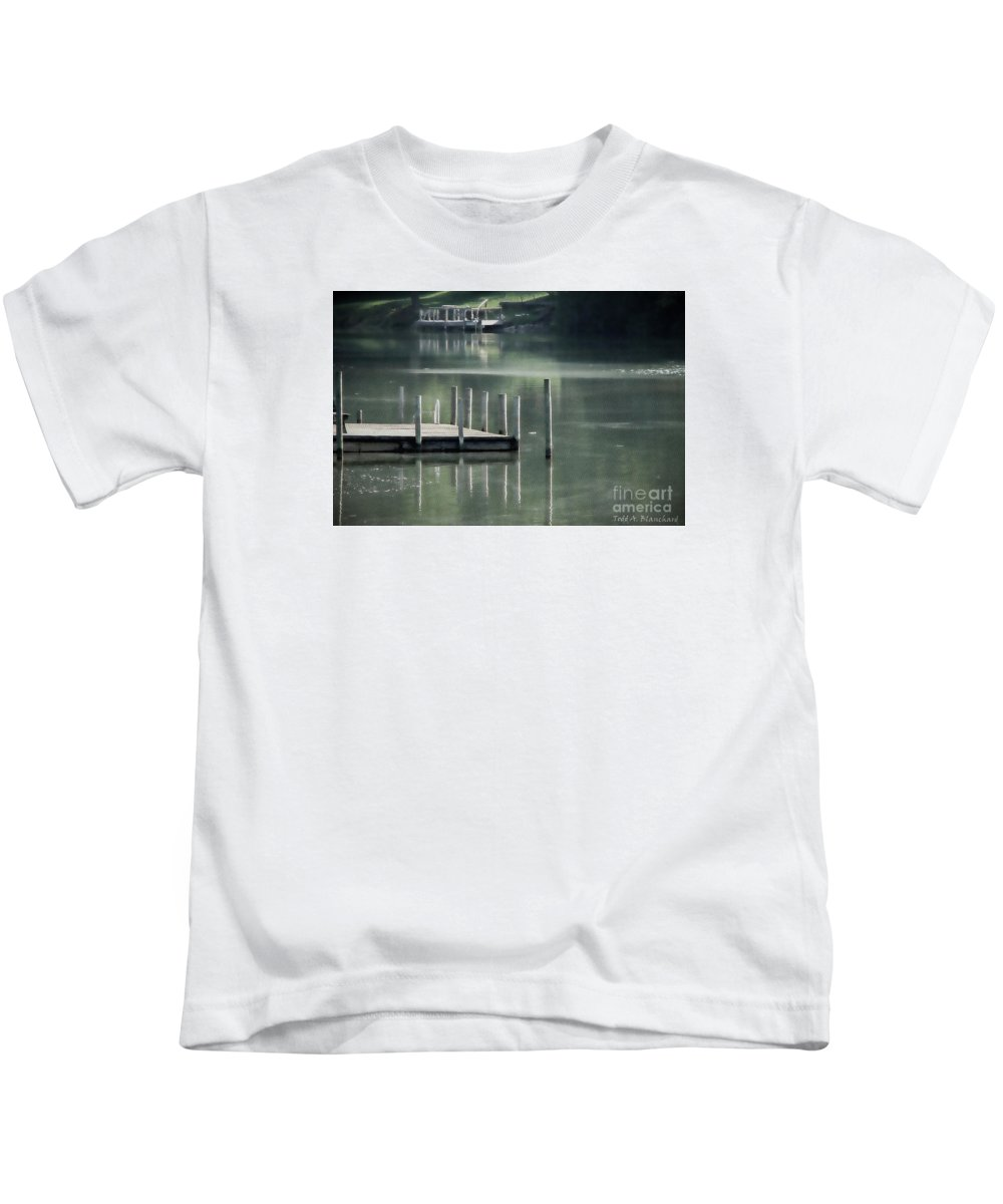 Dock Kids T-Shirt featuring the photograph Sunlit Dock by Todd Blanchard