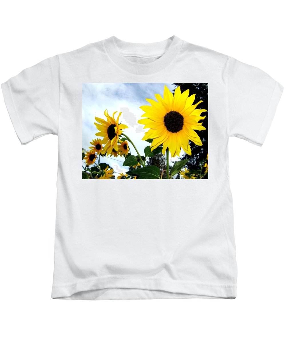 Sunflowers Kids T-Shirt featuring the photograph Sunny Slopes by Will Borden