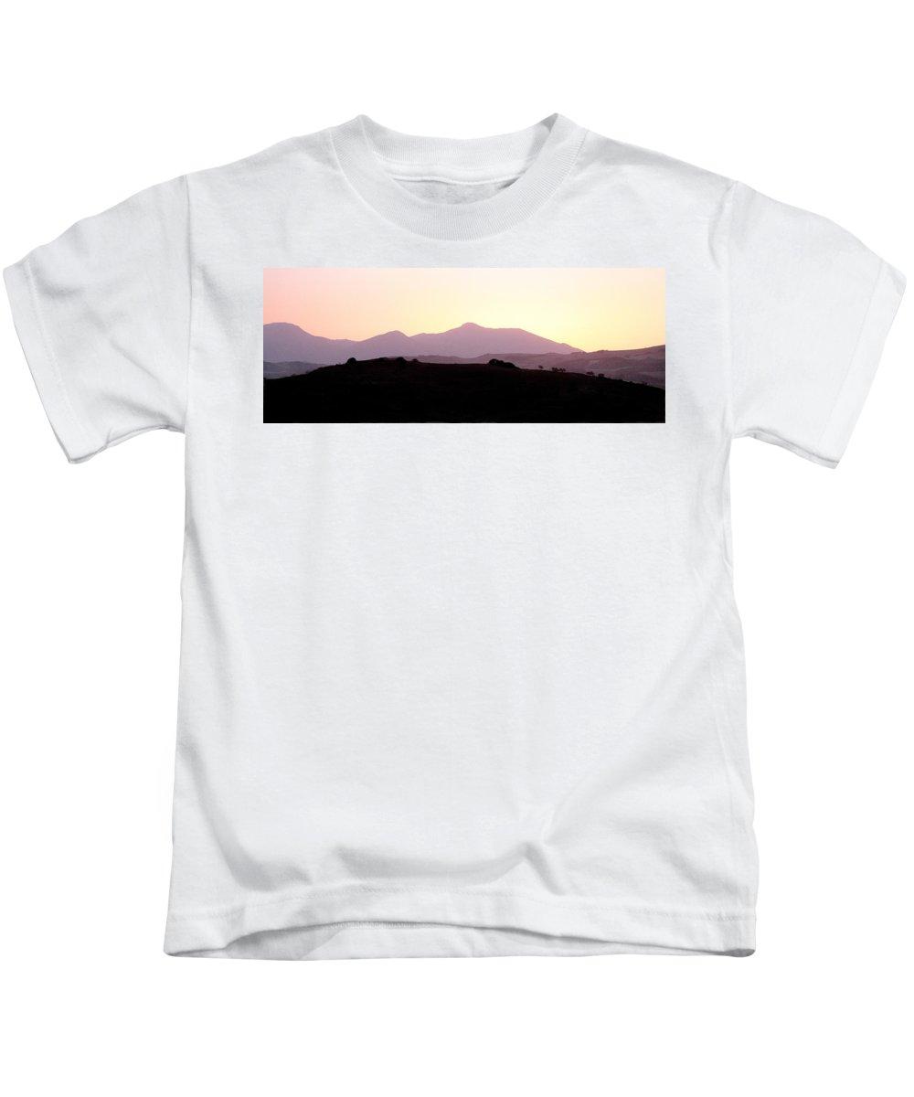Spain Kids T-Shirt featuring the photograph Sunset Over The Andalucian Mountains Near Villanueva De La Concepcion by Mal Bray