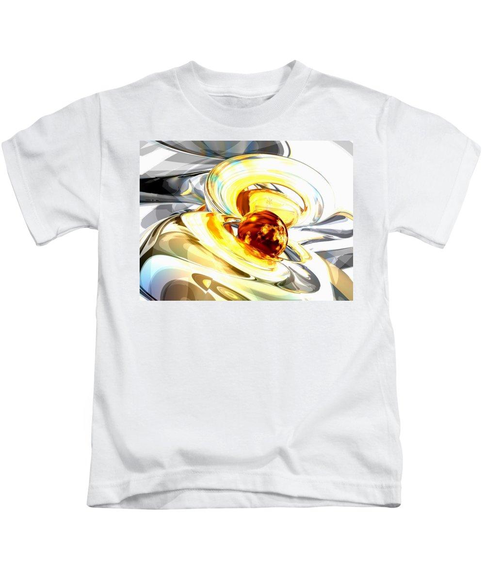 3d Kids T-Shirt featuring the digital art Supernova Abstract by Alexander Butler