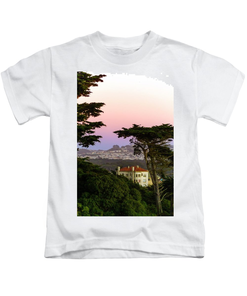 Sutro Heights Park Kids T-Shirt featuring the photograph Sutro Heights Park View by Greg Reed