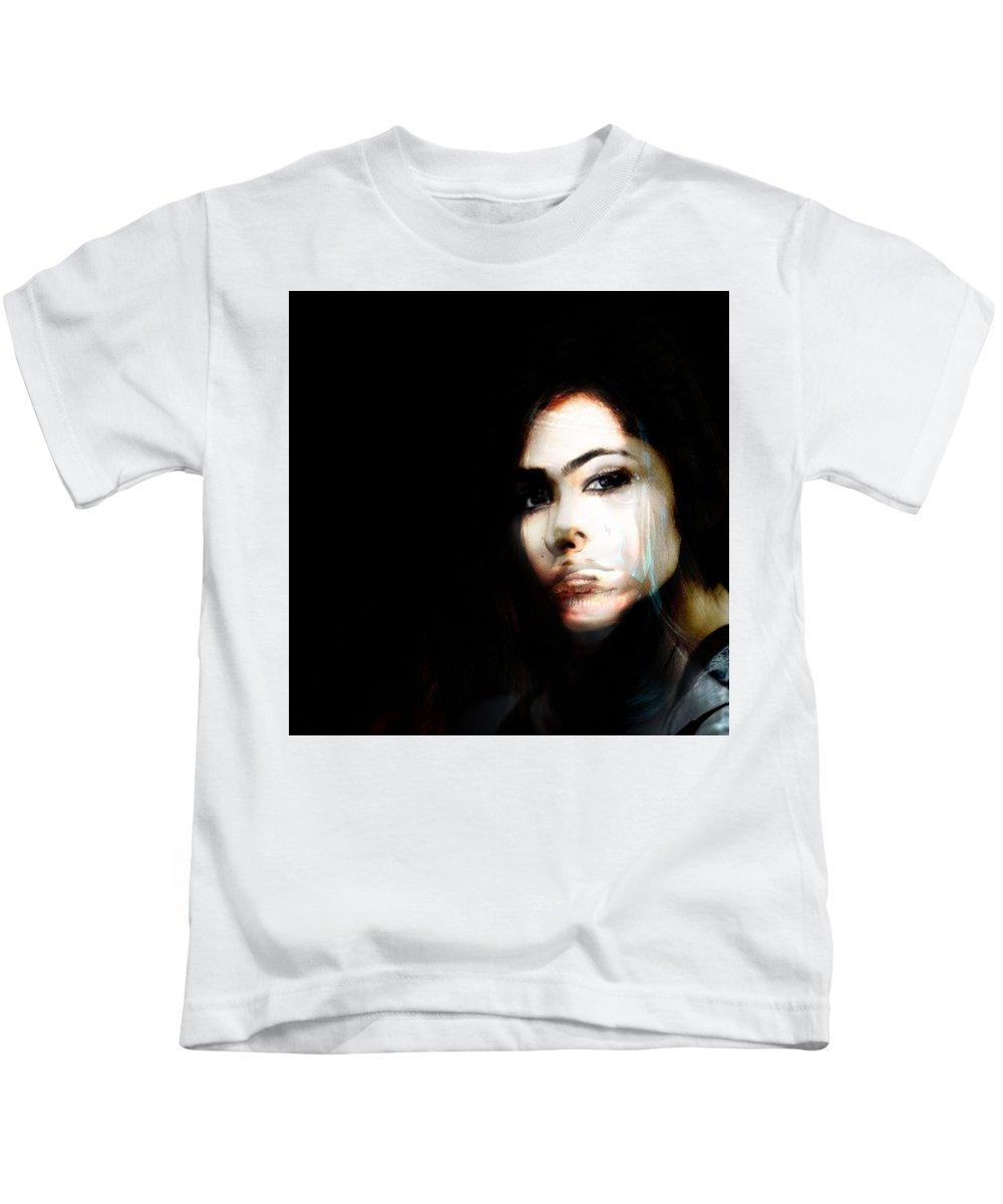 Kids T-Shirt featuring the painting Svietlana I Know by Maciej Mackiewicz