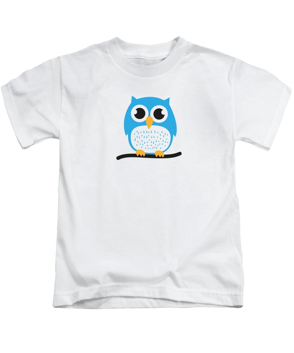 Sweet Kids T-Shirt featuring the digital art Sweet and cute owl by Philipp Rietz