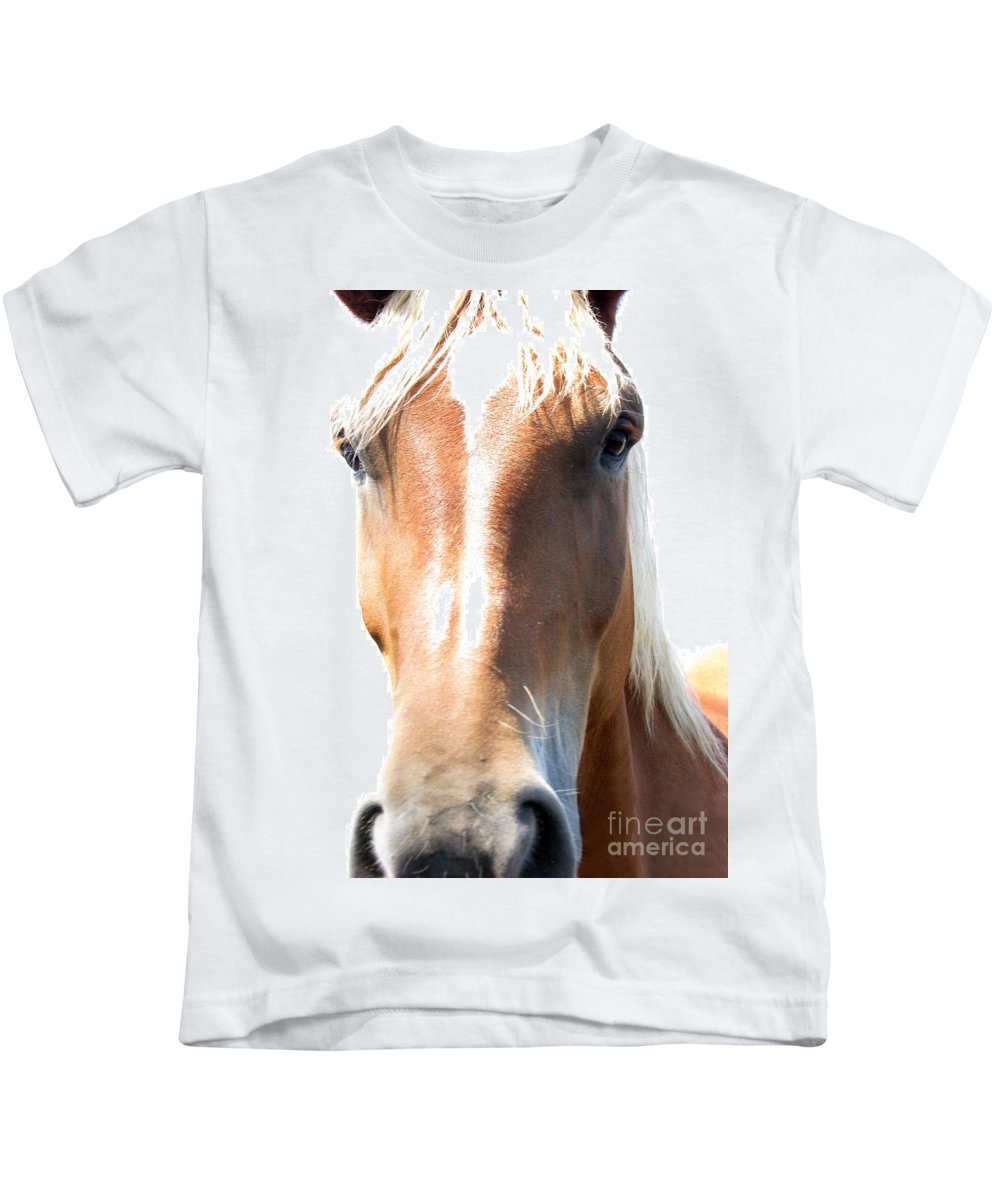 Horse Kids T-Shirt featuring the photograph Sweetie by Amanda Barcon