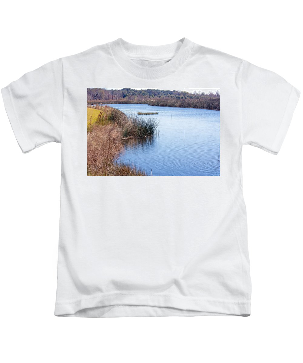 Nature Kids T-Shirt featuring the photograph Sweetwater Wetland Pond by Kenneth Albin