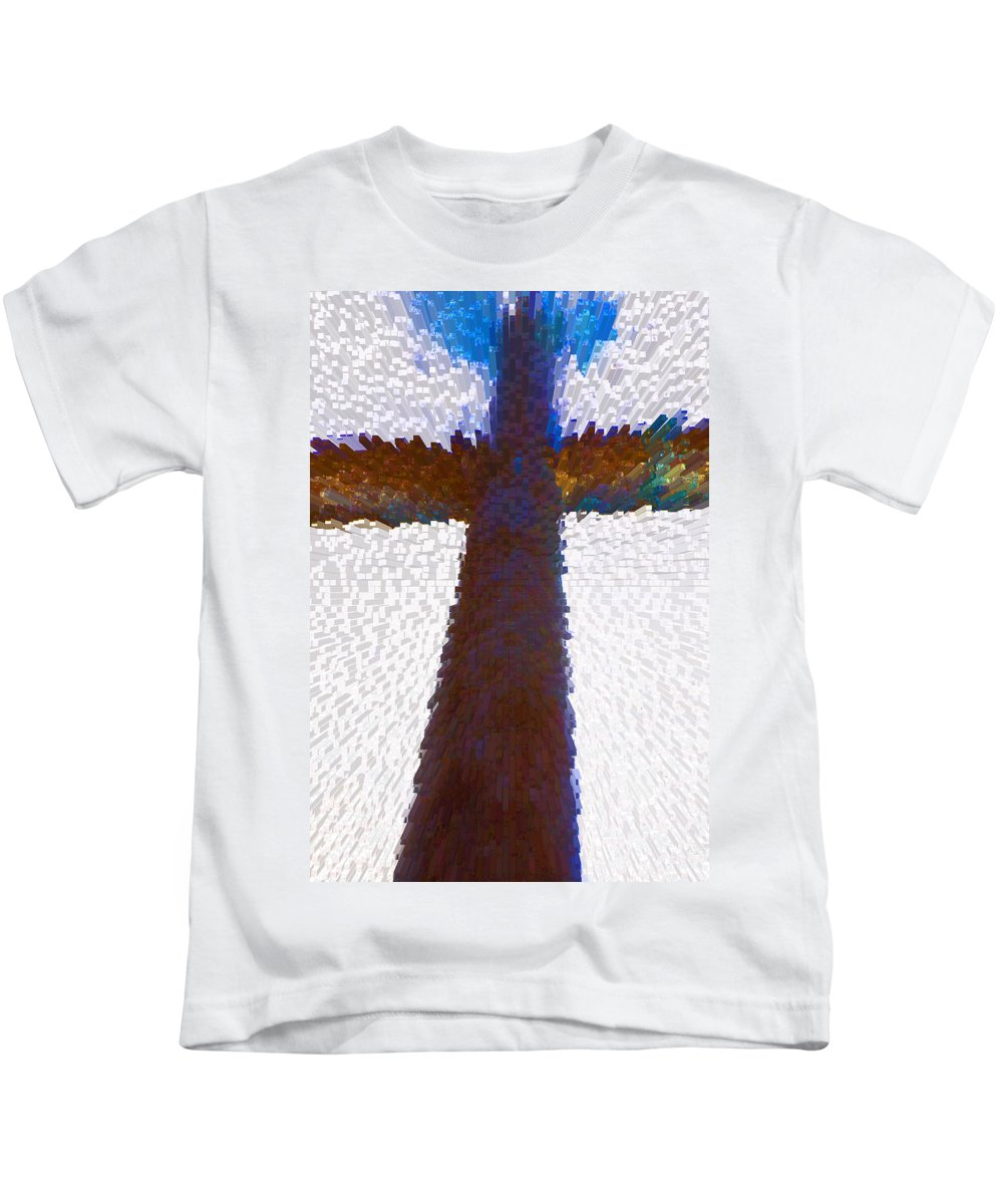 Abstract Kids T-Shirt featuring the digital art Symbol by Lenore Senior