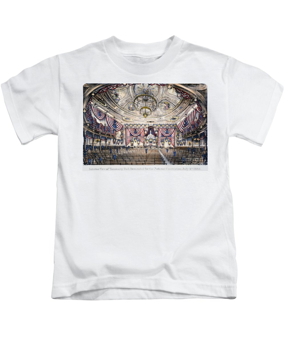 1868 Kids T-Shirt featuring the photograph Tammany Hall, Nyc by Granger