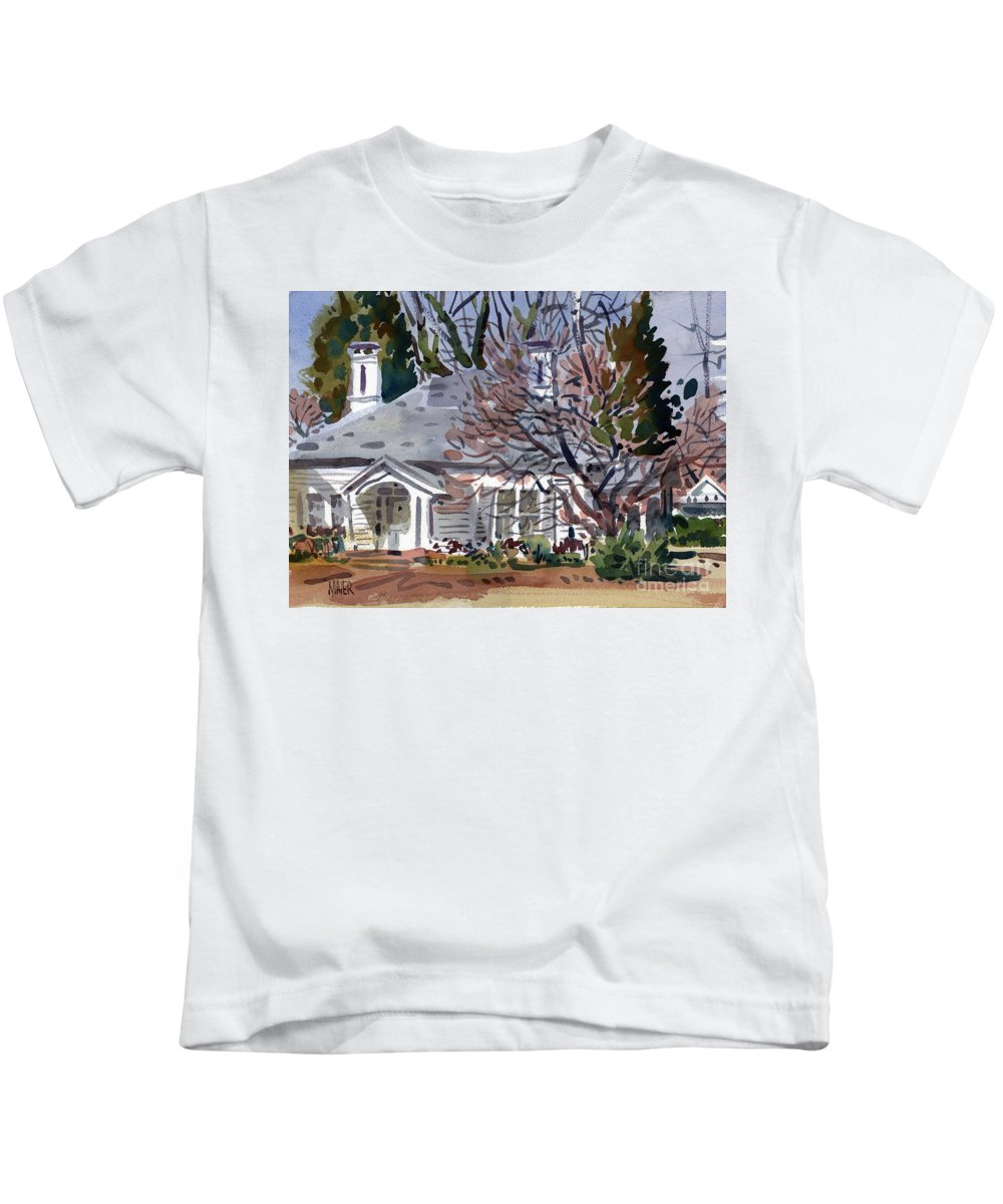 Tapp House Kids T-Shirt featuring the painting Tapp House by Donald Maier
