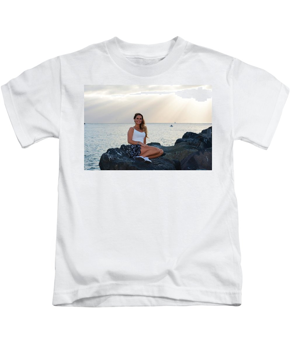 Fashion Kids T-Shirt featuring the photograph Taylor 027 by Remegio Dalisay