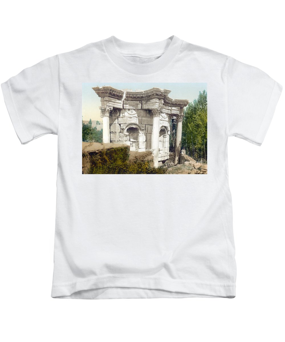 Science Kids T-Shirt featuring the photograph Temple Of Venus, Baalbek, 1890s by Science Source