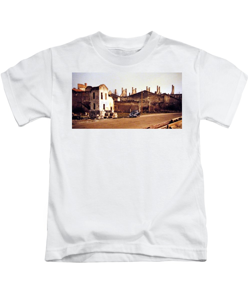 1955 Kids T-Shirt featuring the photograph Ten Years After The Bombs 1955 by Will Borden