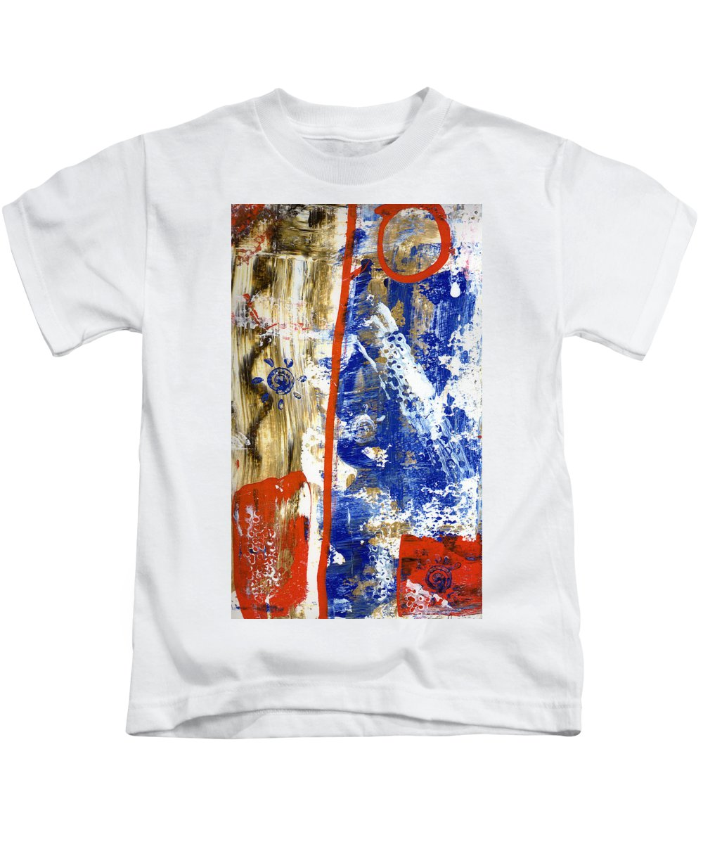 Abstract Kids T-Shirt featuring the painting The 4th by Wayne Potrafka