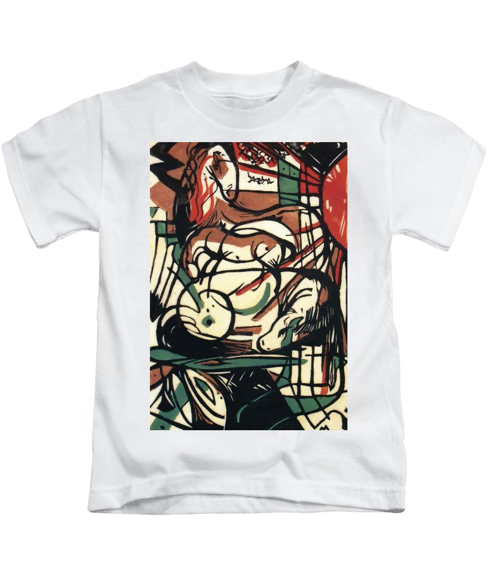 The Kids T-Shirt featuring the painting The Birth Of The Horse 1913 by Marc Franz