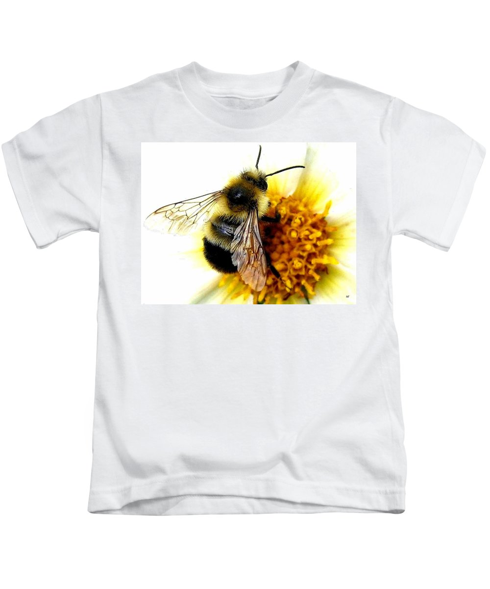 Honeybee Kids T-Shirt featuring the photograph The Buzz by Will Borden