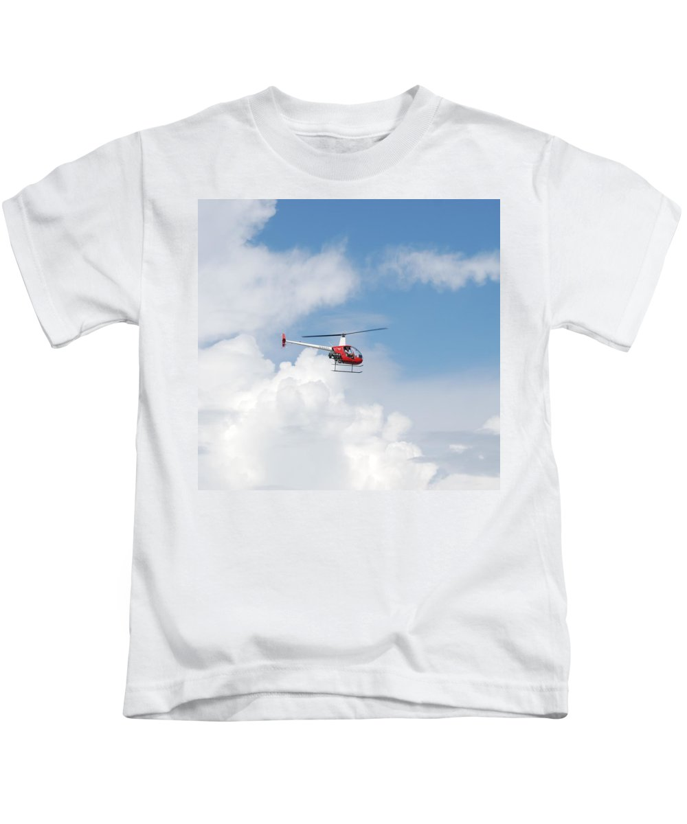 Helocopter Kids T-Shirt featuring the photograph The Chopper by Rob Hans