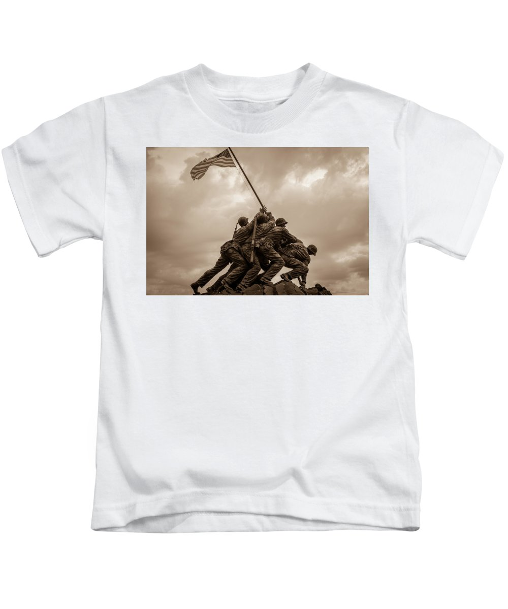 Landscape Kids T-Shirt featuring the photograph The Clouds Over Iwo Jima by Michael Scott