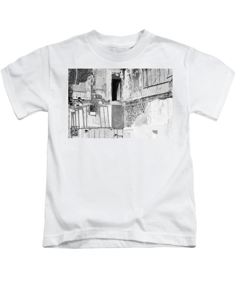 Architecture Kids T-Shirt featuring the photograph The Doorway To Darkness by Rob Hans