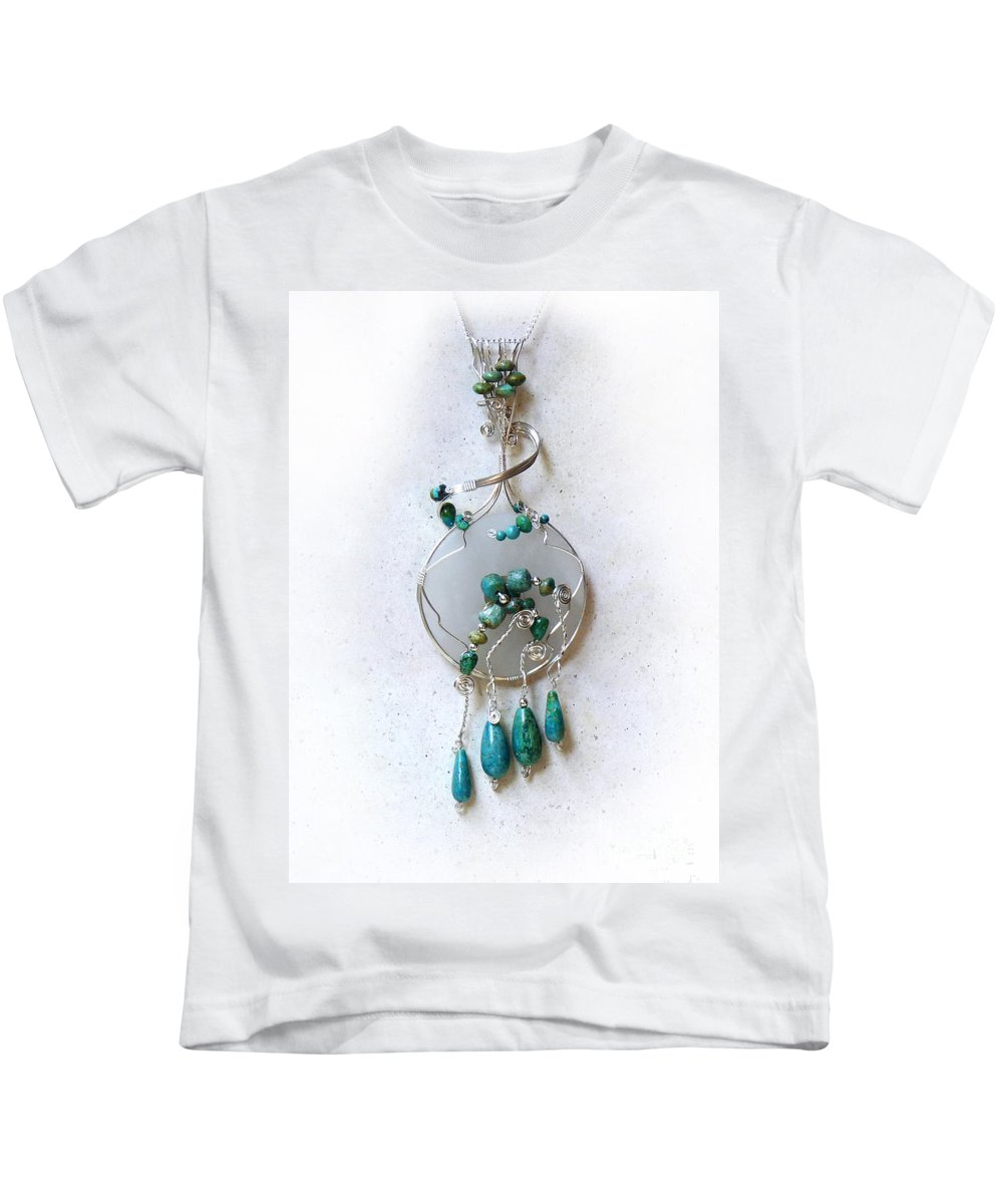 Sterling Silver Kids T-Shirt featuring the photograph The Earth And Sky And Sea by Rhonda Chase