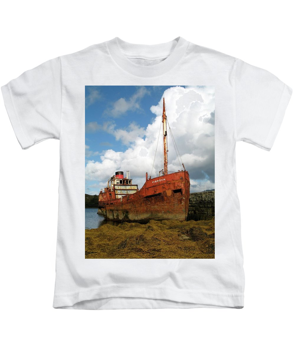 Boat Kids T-Shirt featuring the photograph The Fate Of Poor Pibroch by Porter Glendinning