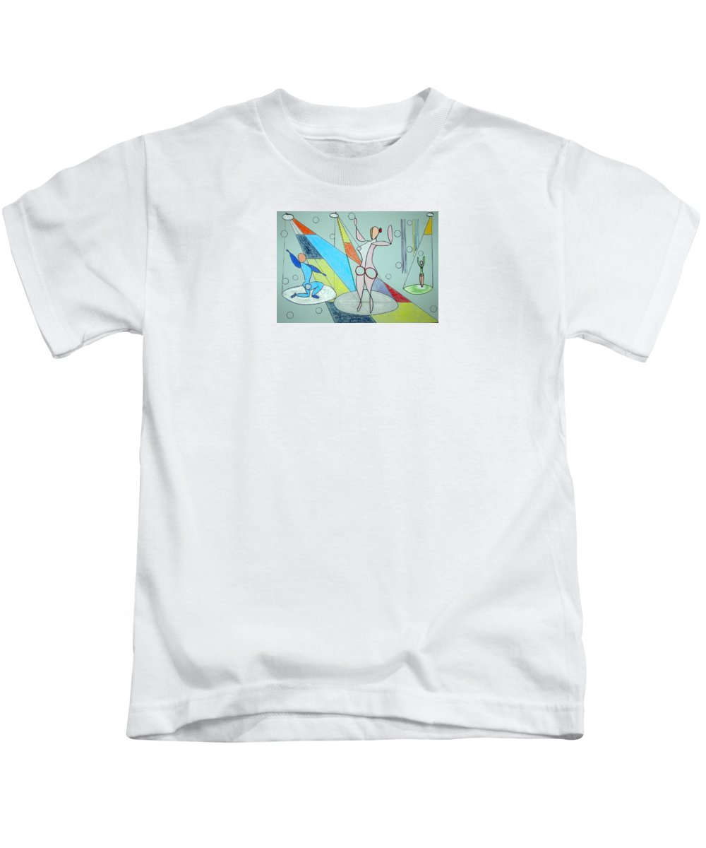 Juggling Kids T-Shirt featuring the drawing The Jugglers by J R Seymour