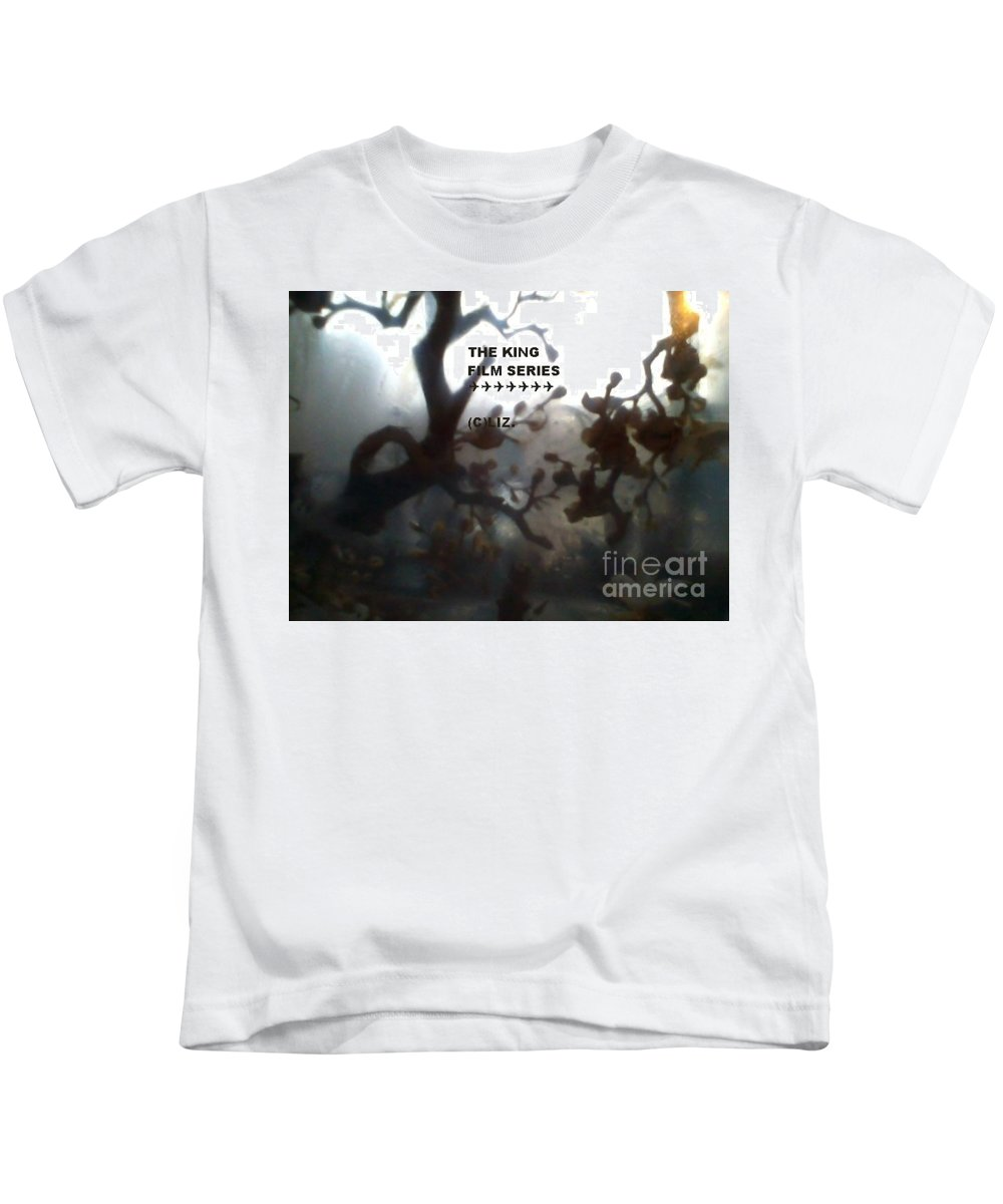 This Is The Title Plat4 For The April 26 Kids T-Shirt featuring the mixed media The King Film Series, Episode April 26, 2017 by Elizabeth A Kennedy