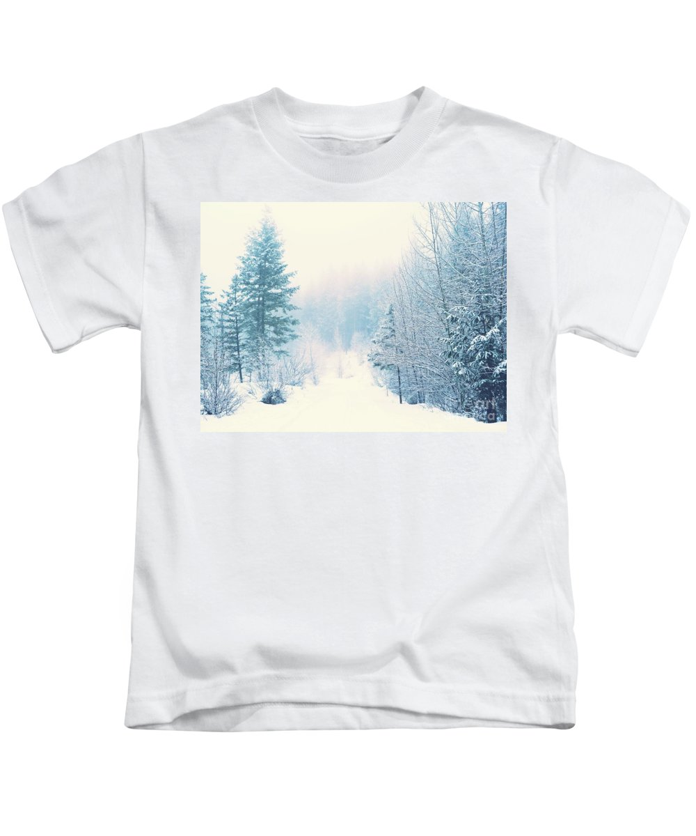 Winter Kids T-Shirt featuring the photograph The Pale Kiss Of Winter by Tara Turner
