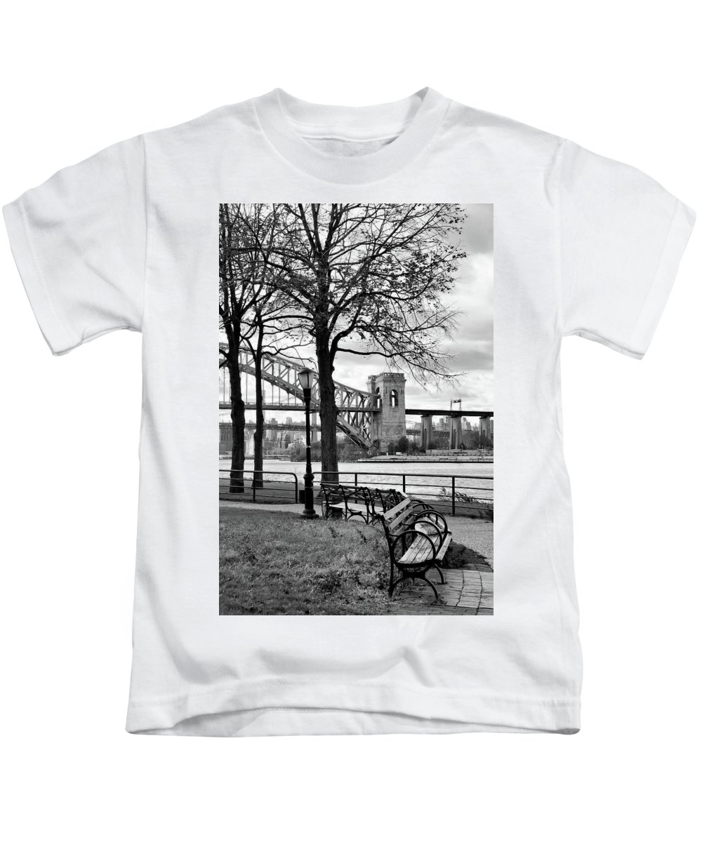 Astoria Kids T-Shirt featuring the photograph The Park by Cate Franklyn