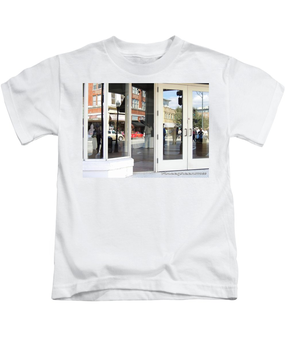 Savannah Kids T-Shirt featuring the digital art The Photographer And His Doppelganger by Vincent Green