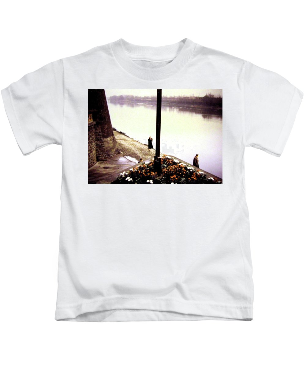 1955 Kids T-Shirt featuring the photograph The River Seine 1955 by Will Borden