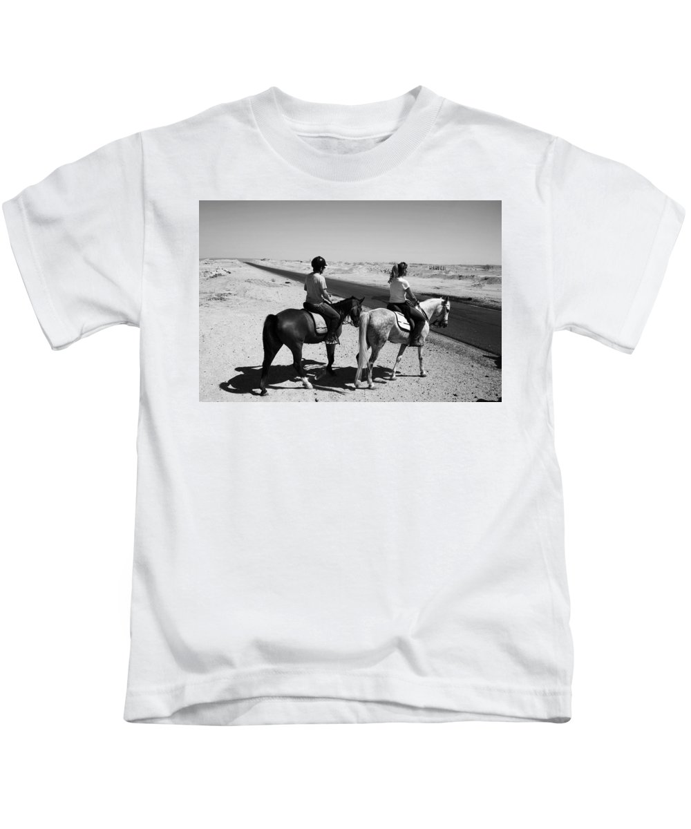 Jezcself Kids T-Shirt featuring the photograph The Road Less Traveled by Jez C Self